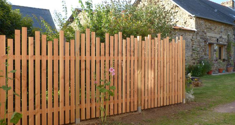 cl ture palissade bois portails et portillons en ille et vilaine et bretagne jardi bois cr ation. Black Bedroom Furniture Sets. Home Design Ideas