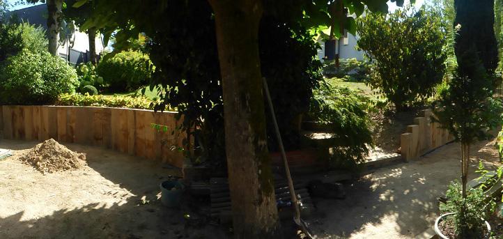 retenue de terre en chêne