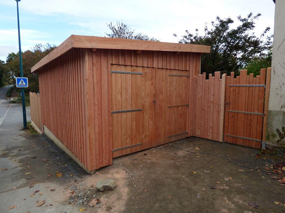 garage douglas en ossature bois